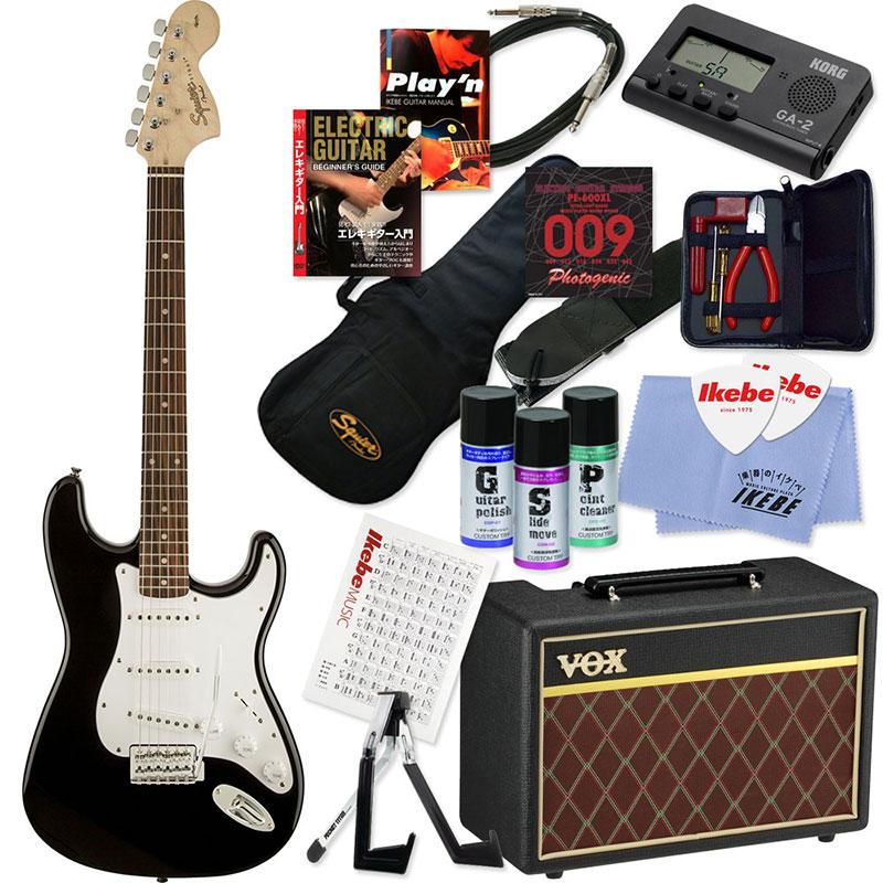 Squier by Fender 《スクワイヤーbyフェンダー》 Affinity Series Stratocaster (Black/Laurel Fingerboard) 【ストラト&選べるVOXアンプ・豪華20点入門セット】【g_p5】