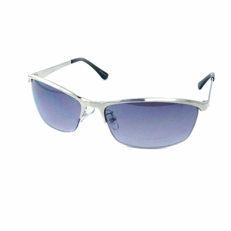 サングラス メンズ レディース サングラスケース 7JEWELRY スクエア スモーク ブラウン ハーフ グリーン レンズ シルバー ガンメタル フレーム 紫外線カット