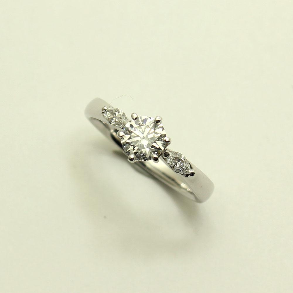 【渋谷の質屋 楠本商店】Pt950 ダイヤモンドリング 12号D-0.733ct Dカラー IF EXCELLENT STRONGBLUE 【中古】美品《返品可》【質屋出品】【送料無料】