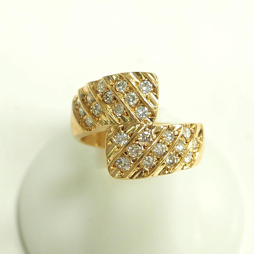【渋谷の質屋 楠本商店】K18G ダイヤモンドリング D-0.61ct 13.5号【中古】美品《返品可》【質屋出品】【送料無料】