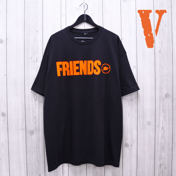 【VLONE】VLONE FRAGMENT S/S TEE(BLK)(ヴィーローン/カットソー/Tシャツ/ASAP/A$AP/A$AP MOB/A$AP BARI/A$AP ROCKY/KANYE WEST/藤原ヒロシ/フラグメント/FRENDS)