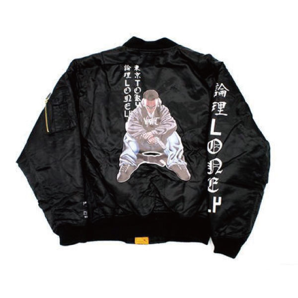 【SALE/セール/20%OFF】【LONELY論理】#12 VAZVERT×LONELY論理 LIMITED EDITION BOMBER JK/jk064(BLK)(ロンリ/アウター/ブルゾン/MA-1/lonely_tokyo/論理LONELY/論理/LONELY/LONELY東京)lonley