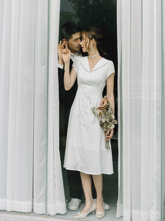 ウエディングドレス 二次会 半袖 ロングドレス Aラインドレス 結婚式 ウェディングドレス 演奏会 ブライダル 花嫁ドレス パーティードレス お呼ばれ エンパイア ワンピース 大きいサイズ 海外挙式 披露宴 前撮り 白 wedding dress XXS XS S M L XL XXL XXXL