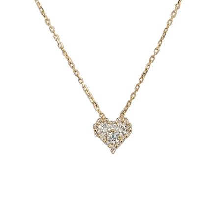 ◆ミウラ◆ヴァンドーム青山 ダイヤモンド/0.3ct ハートモチーフ ネックレス K18YG【中古】【smtb-TD】【saitama】