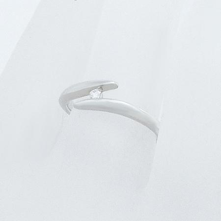 ◆ミウラ◆スタージュエリー ダイヤモンド/0.02ct デザイン リング Pt950 8号【中古】【smtb-TD】【saitama】