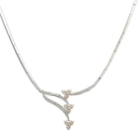 ◆ミウラ◆ダイヤモンド/0.76・0.13ct デザイン ネックレス K14WG【中古】【smtb-TD】【saitama】