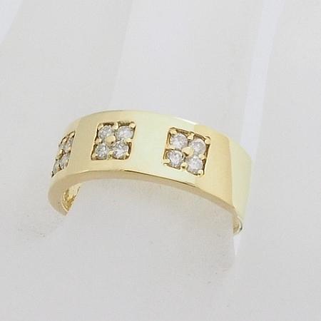 ◆ミウラ◆ダイヤモンド/0.28ct デザイン リング K18YG 11号 仕上済【中古】【smtb-TD】【saitama】