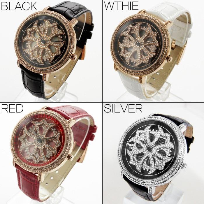 金色 腕時計 スワロフスキースピナー腕時計 ムーブメント仕様 開運アイテム ゴールド