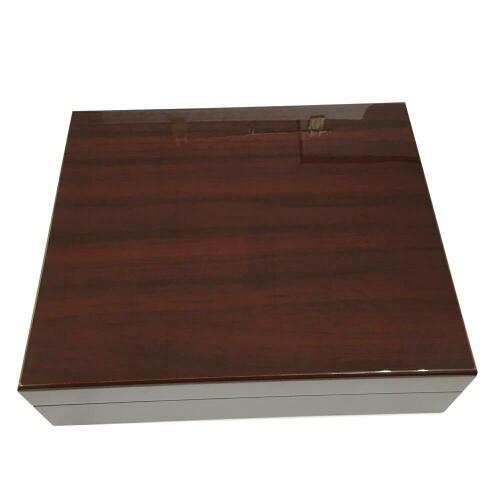 木製 オリジナル シガーボックス HL111 ヒュミドール 湿度計付きセット【取寄せ品】