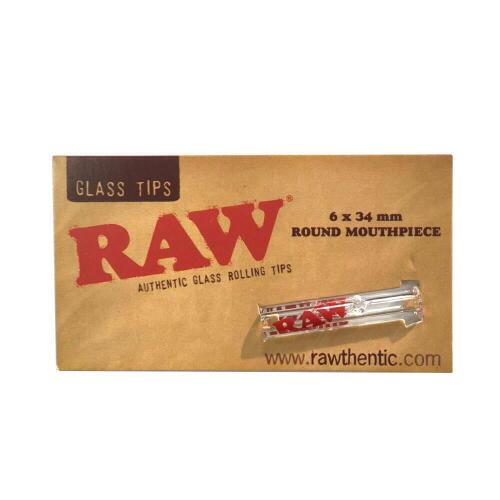 メール便なら送料250円 RAW ガラスチップス ラウンド ロー フィルター 喫煙具 手巻きタバコ シャグ【メール便250円対応】