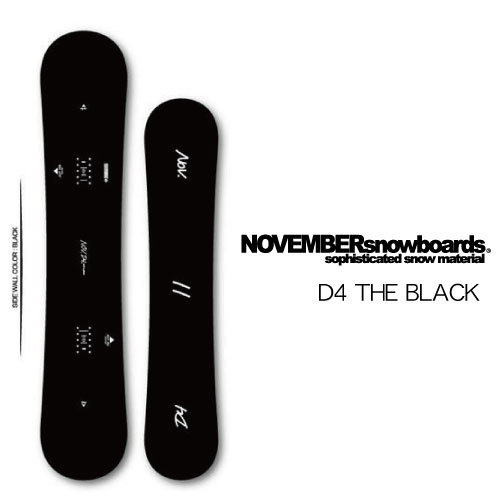 【19-20 NOVEMBER D4 THE BLACK】ノベンバー スノーボード メンズ レディース ソフト グラトリ フリースタイル パーク ジブ【プレチューン付き】【チューン・ワックス等同時購入で特別価格】国産 国内産 オガサカ産 限定モデル ブラック 黒 2020