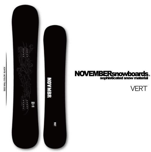 【 19-20 NOVEMBER VERT 】 ノベンバー スノーボード バート 153/156 [フリーラン/パイプ]