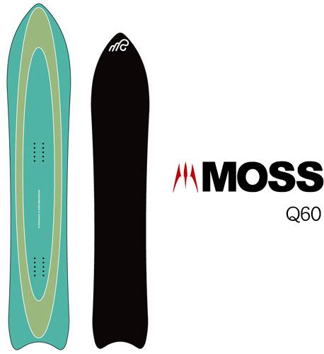 【 19-20 MOSS Q60 】スノーボード モス パウダー