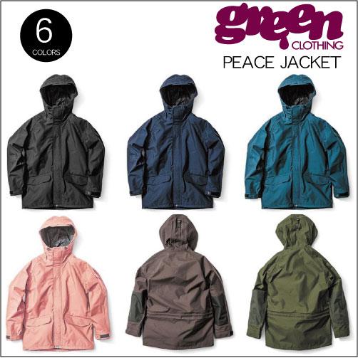 【18-19 GREEN CLOTHING PEACE JACKET】グリーンクロージング ピースジャケット スノーボードウェア 2019 送料無料 旧モデル 型落ち 旧品 セール