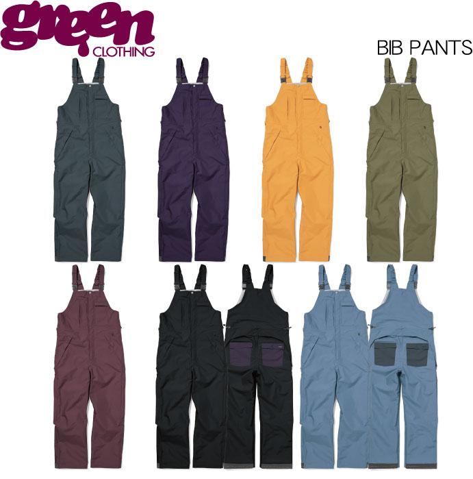【 19-20 2020 GREEN CLOTHIG BIB PANTS 】グリーンクロージング ビブパンツ スノーボードウェア