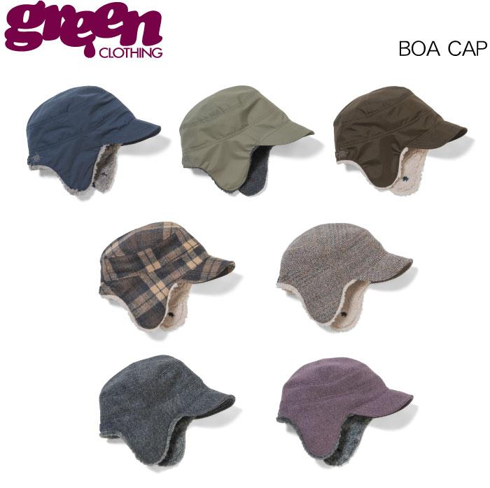【 19-20 2020 GREEN CLOTHIG BOA CAP 】グリーンクロージング ボアキャップ