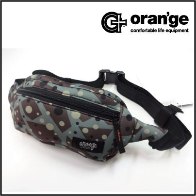 背面にスマホを収納できる新しいウエストバッグ 人気海外一番 ORANGE ウエストバッグ 人気 おすすめ デザイン:CAMO オレンジ