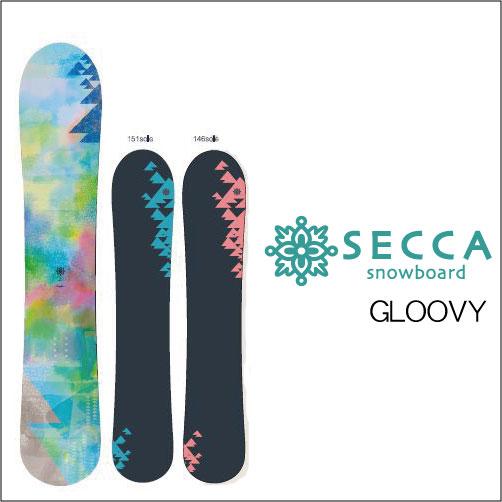 【 18-19 2019 SECCA GLOOVY 】 セッカ グルービー スノーボード [パウダー/フリーラン]