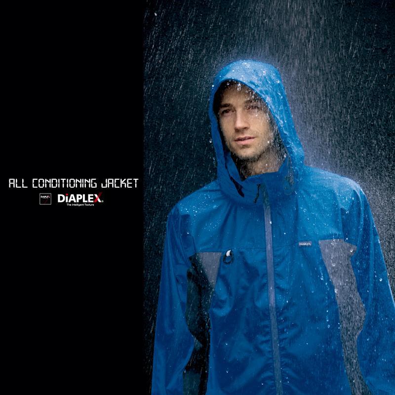 アイトス AZ-56301 DIAPLEX 全天候型ジャケット 耐水圧30 レインウェア 合羽 作業用 アウトドア レジャー