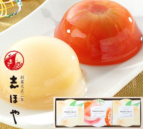 完熟トマトと白桃の紅白ゼリー