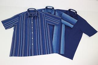 生地表面のシボ 凹凸 のおかげで通気性 オンラインショッピング 肌触りが良い阿波しじら織で おしゃれな半袖シャツを作りました 爆売り 選べる3柄 暑い夏にもギフトにも最適です 阿波しじら織メンズ半袖襟付きシャツ 和柄 和モダン Lサイズ 涼しい 綿100% M 父の日 日本製 敬老の日 夏 おしゃれ