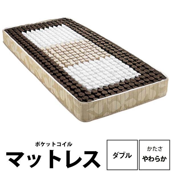 【西川リビング】バランスマットレス(ソフトタイプ)ダブル 幅140×長さ200×高さ25cm