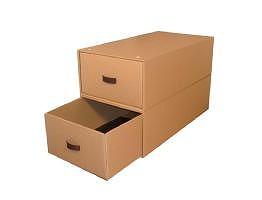 収納ボックス4個組(奥行き74cm×幅39cm×高さ23cm)スチール枠・インデックスシール付