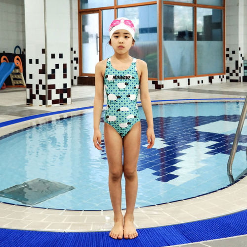 9017a8c911d Child children's clothes fitness swimming swimming race figure cover Korea  fashion of the MOWAVE モワビ ...