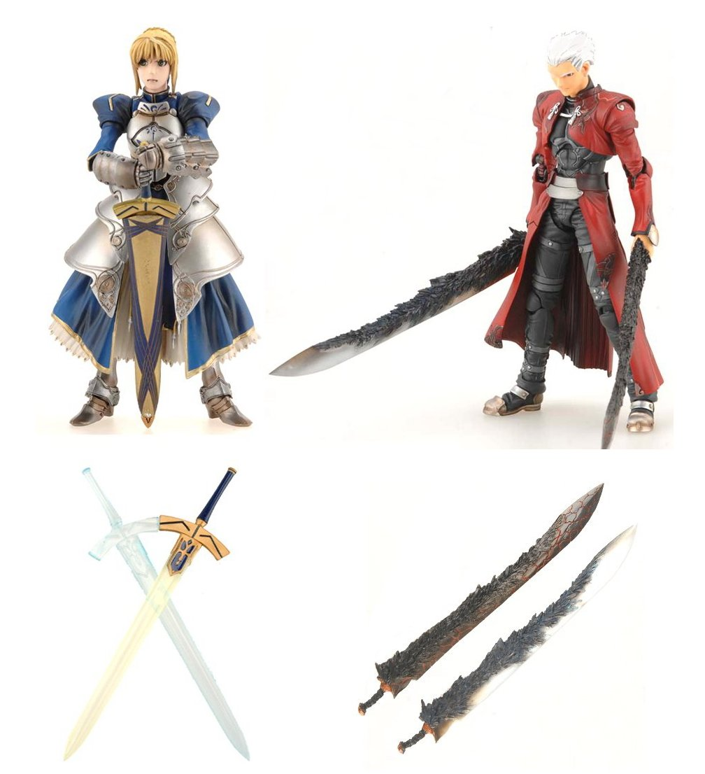 eb Craft HYPER FATE COLLECTION セイバー アーチャー EXパーツセット 3種セット