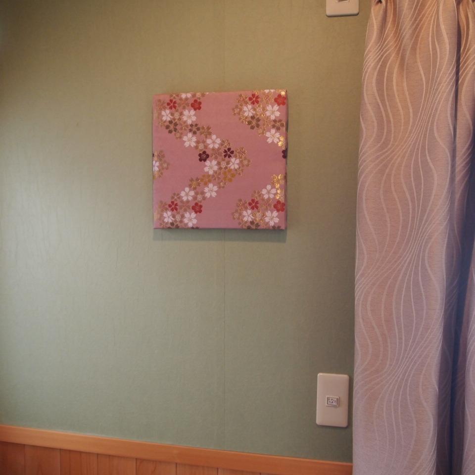 ファブリック ボード アート パネル 西陣織 金らん ピンク L版(45×45センチ)