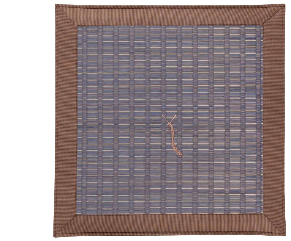 掛川A 青紫/高級いぐさ座布団夏用(い草イ草イグサ)60×60cm【送料無料】