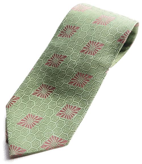 シルク 最高級 和柄 ネクタイ 和柄で一本一本 ハンドメイド 作製 日本製 ブランド 正絹 緑亀甲