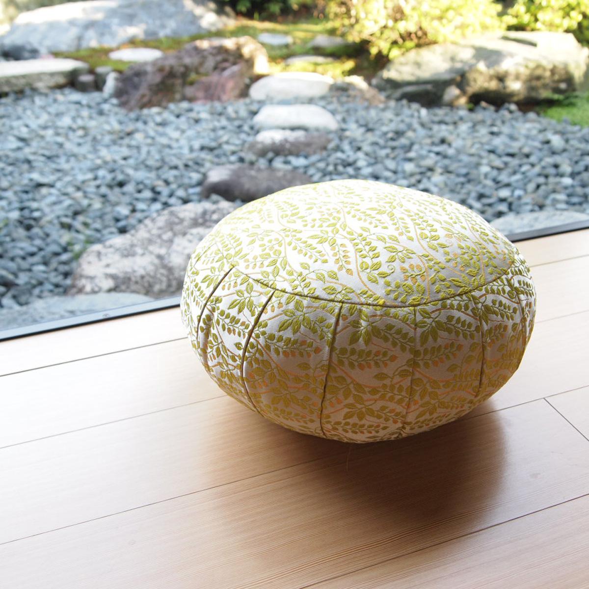 座禅座布団(送料無料)国産 瞑想などヨガや体操に最適な丸座布団 30cm幅高さ18cm