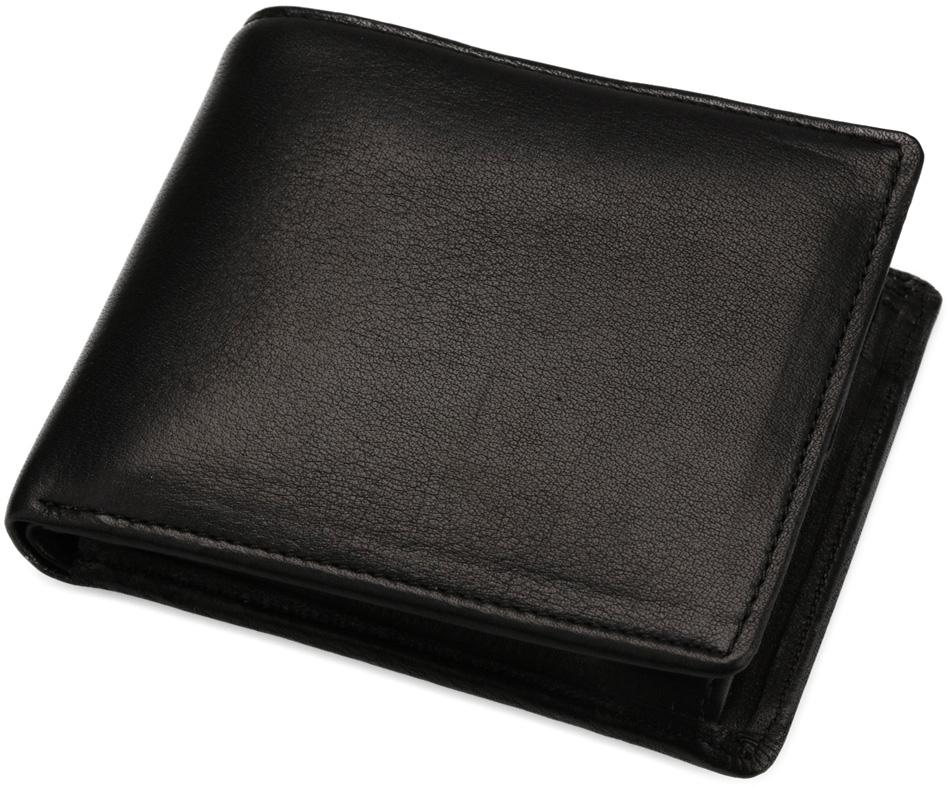 日本製 本革利用 マイスター匠 財布 二つ折り札入れ 黒色 11.5×10cm