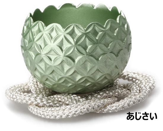 小さな おリン 花のりん 約幅4×高3cm 日本製 高岡仏具 音色が違うこだわりの逸品 おりん 緑