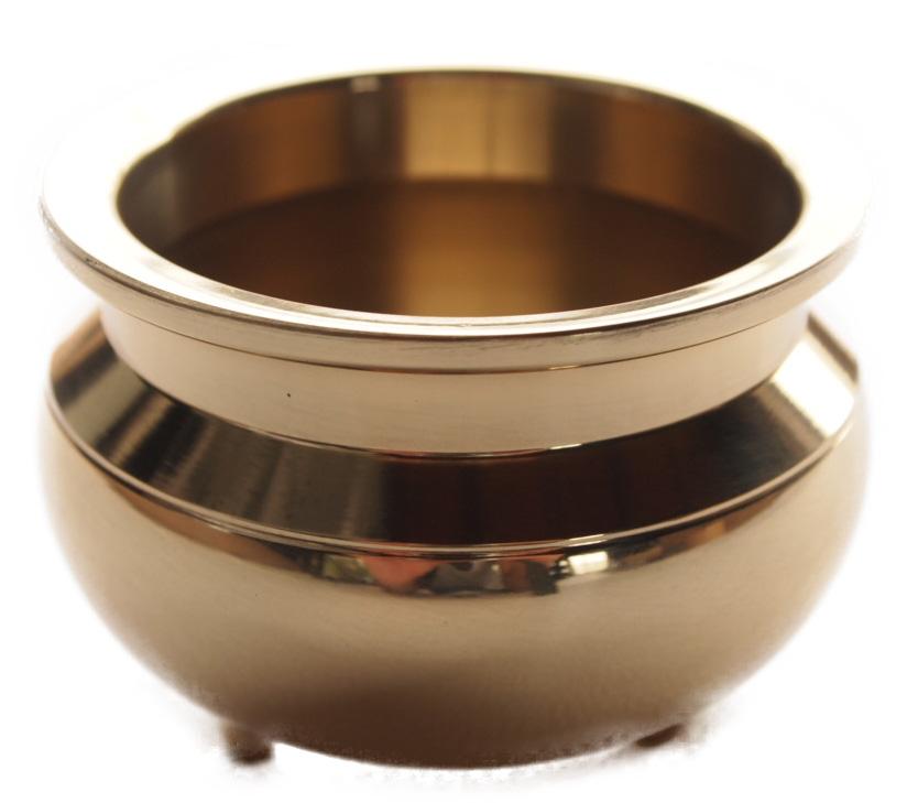 香炉 国産 仏壇仏具 卓上香炉 日本製の高岡製品 4寸(胴幅12.1×7.6cm) 金色磨き