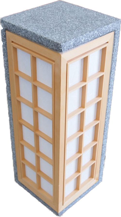 旅館風 玄関先 石材オブジェ (蝶) 灯籠(とうろう)燈籠 灯篭