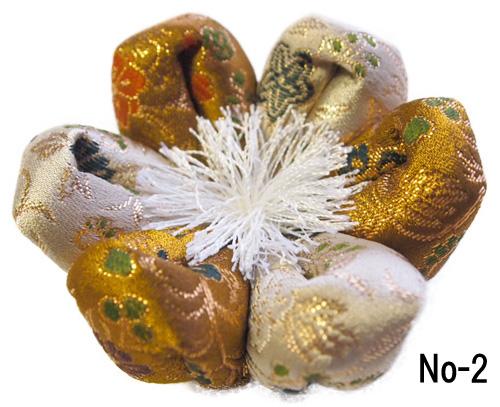 おりん布団 リン布団 日本製の花型 りん座布団 葵三丁 5号 15センチ幅
