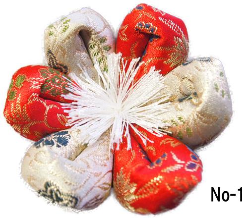 おりん布団 リン布団 日本製の花型 りん座布団 葵三丁 12号 36センチ幅