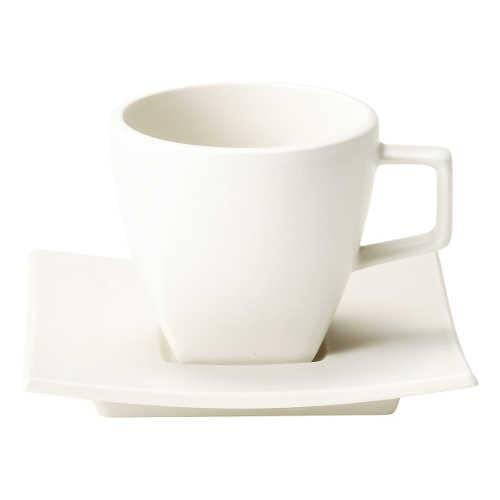 コーヒーカップ 人気商品 白 陶器 おしゃれ 永遠の定番 カフェ食器 ソーサー 美濃焼 スノーホワイト 業務用 カルマコーヒーカップ