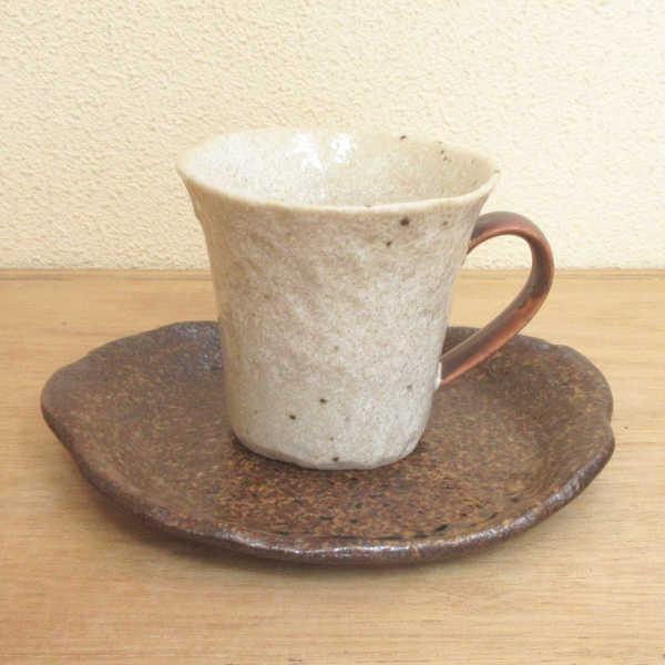 業務用 美濃焼 コーヒーカップ 陶器 新登場 和風 期間限定 おしゃれ 食器 アメ釉業務用 カフェ風 和陶器 ソーサー かわいい
