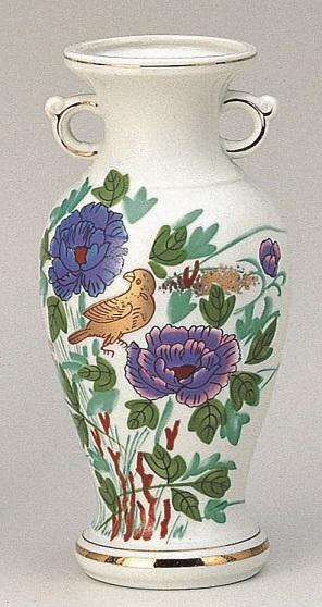 【サギ型花立 花鳥10寸】0尺 1本 仏壇 仏具 陶器 花瓶