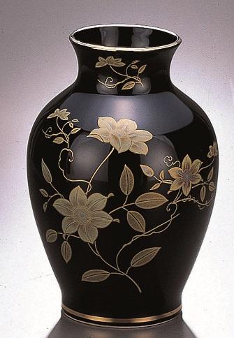【夏目花瓶 黒鉄仙 10号】1本 仏壇 仏具 陶器 花瓶