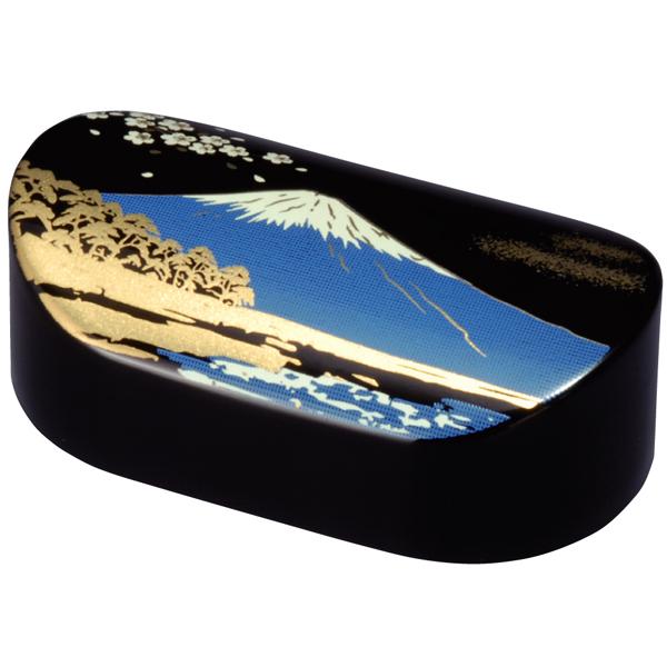 牧江纸椭圆形黑色富士 Ki 书法书法日本模式日本漆器纪念品礼品刷去海外礼品日本纪念品礼物庆祝生日父亲,母亲,祖父母,家庭的白色礼物情人节礼物