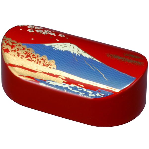 Makie paperweight oval red Mt. Fuji paper weight calligraphy calligraphy Japanese Japanese pattern lacquerware memorabilia gift brush-going overseas souvenirs Japan souvenir gift celebration birthday father, mother, grandparents, Valentine white day gift