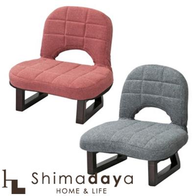 【送料無料】背もたれ付正座椅子 折りたたみ可能 収納に便利 シンプルデザイン  LSS-23GY / LSS-23RD 【代引き不可】 東谷 AZUMAYA 【AZ】【○】【0830】