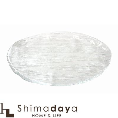 東洋佐々木ガラス 氷河 盛合せだ円大皿 1個 【●】