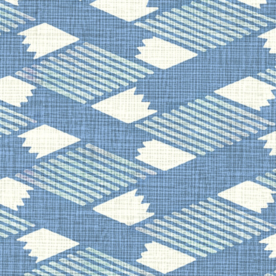 メラミン化粧板 バリエーション(京かたがみ) LJ-10088K 4x8 菱つなぎ(藍色)