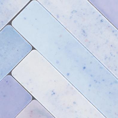 メラミン化粧板 バリエーション LJ-10167K 4x8 ヘリンボーンタイル(パープルミックス)