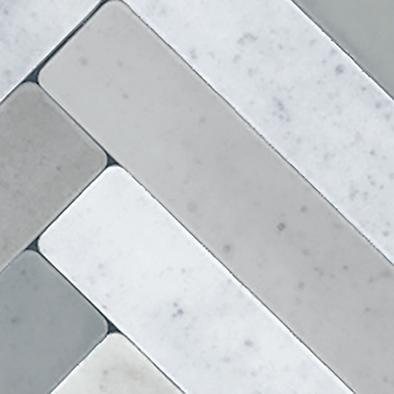メラミン化粧板 バリエーション LJ-10168K 4x8 ヘリンボーンタイル(ライトグレー)